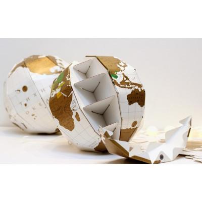 Глобус со скретч слоем для отметок путешествий